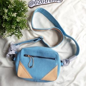 Free people canvass sling/crossbody bag